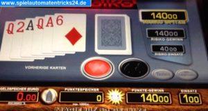 Spielautomaten Tricks Karten Risiko Merkur