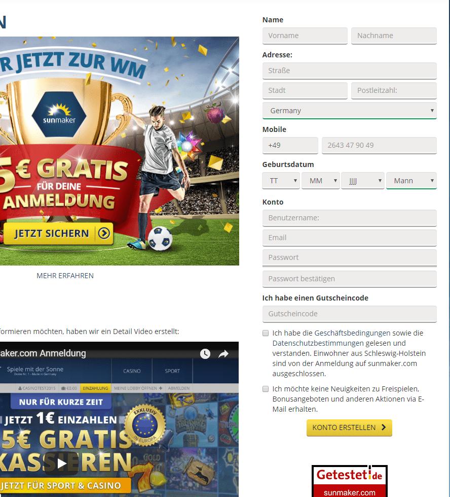 sunmaker online casino gutschein